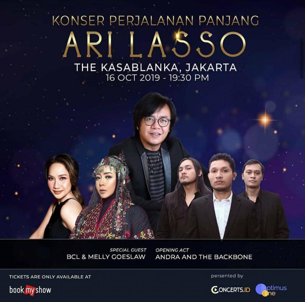 Konser Ari Lasso akan diselenggarakan di tiga kota besar, Medan, Jakarta dan Solo