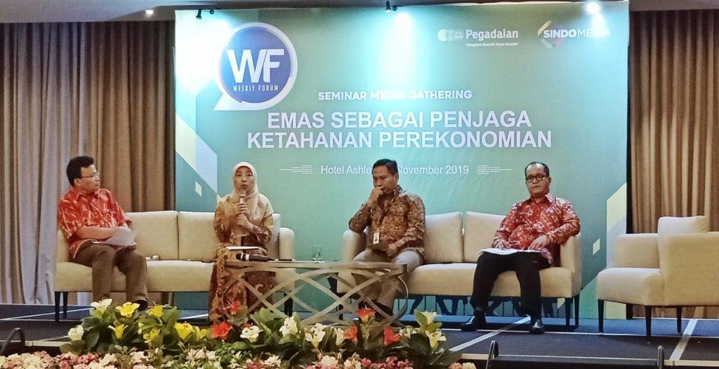 Foto Beb - Yosita Nur Widayanti, Kepala Divisi Inovasi Produk Keuangan Syariah KNKS di acara media gathering 'The Power of Gold'
