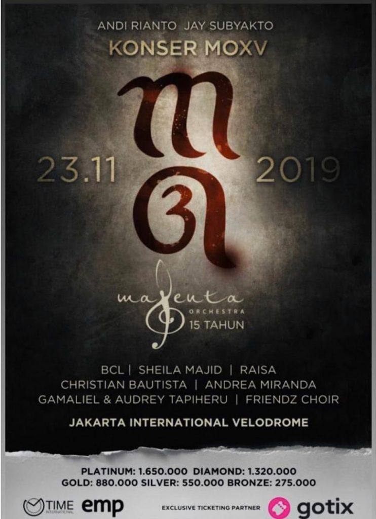 Konser MOXV, persembahan 15 tahun Andi Rianto dan Magenta Orkestra