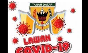 Logo kampanye Tanah Datar Lawan Covid-19