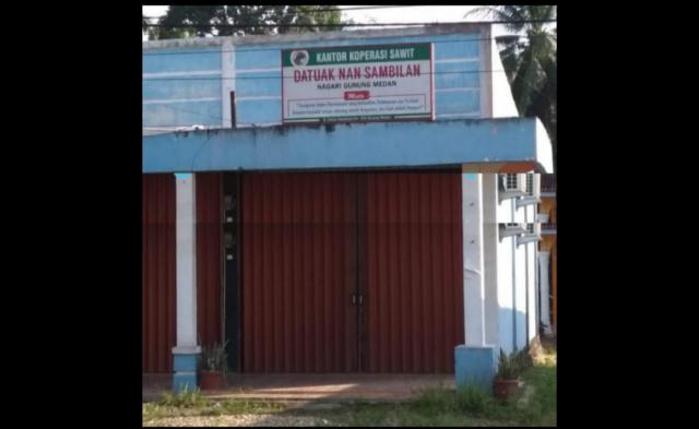 Koperasi Sawit Datuak Nan Sambilan Nagari Gunung Medan, Kecamatan Sitiung